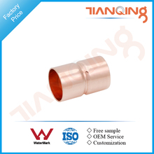 T502 Factory price pipe fitting copper end connector with stop
