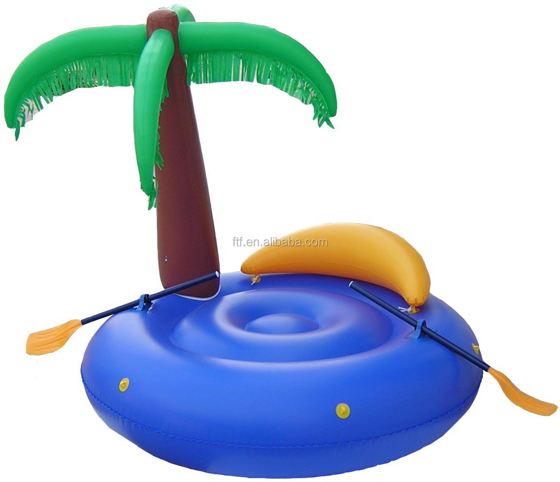 En71 pas cher chine palmier gonflable le flottante gonflable le pour le je - Ile gonflable piscine ...
