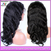 Newness Hair easy to install virgin hair wigs 100% human hair full lace wig silk base full lace wig