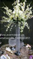 crystal flower stand for table centerpieces/crystal wedding centers