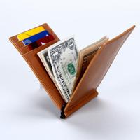 italian Vegetable Tanned Leather money wallet /Money Clip/ Card Holder