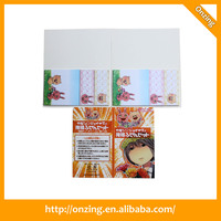 Promotional plastic cover notebook with sticky note