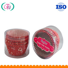SGS certificated paper cupcakes cup floral printed grease-proof Food Grade paper