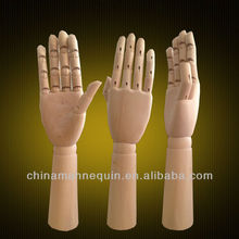 glove jewelry display flexible wood mannequin hand for sale