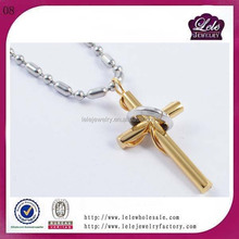 stainless steel Business jesus cross pendant for Man KH1625946