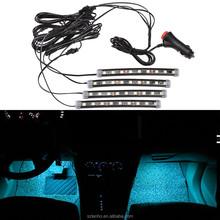 1Set Car LED Interior Light Decor Under Dashboard Floor Strip Lamp 12V Lighting