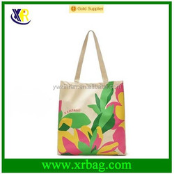 Custom Natural reusable eco recycled cotton canvas shopping tote bag