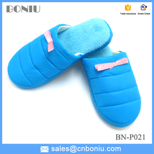 coral fleece insole fashion down jacket cloth home warm slipper for women in bedroom