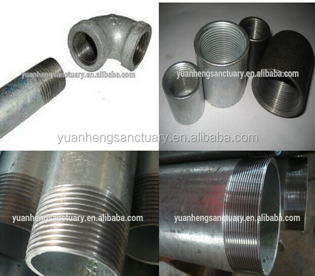 Threaded pre galvanized steel pipe hollow section