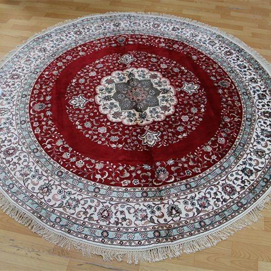 Precio de f brica oriental 7x7ft red anudada mano de for Precio de alfombras