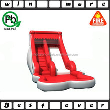 red inflatable pool water slide/inflatable climbing slide for sale