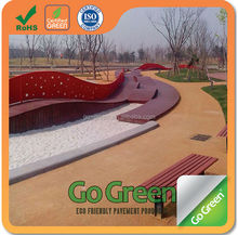 Landscaping garden cold mix colored asphalt with ultrathin layer
