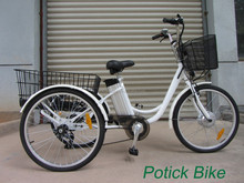 personal Transporation 24' 250W Three wheels electric bike / adults Electric tricycles with EN15194 / cargo bike