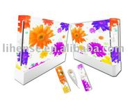 for nintendo wii skin sticker for wii console controller included