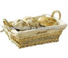 Pan cesta de mimbre rectangular