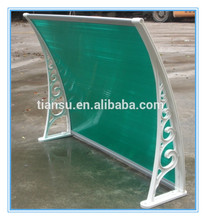 SGS TEST Polycarbonate awning for window and canopy roof plastic building material with uv coating