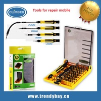 45 in 1 Professional Tools for repair mobile Compact Screwdriver Kit Set with Tweezers & Extension Shaft