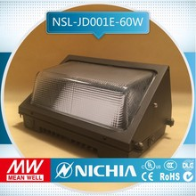 free samples 5year Warranty Elegant Appearance Practical 60w exterior solar ul led glass wall pack, exterior wall lamp