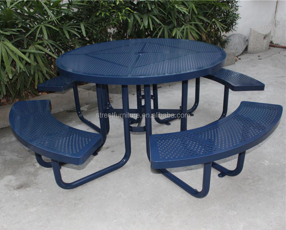 아연 도금 피크닉 테이블 벤치, 야외 금속 테이블 벤치-금속 ...