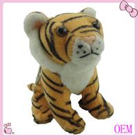 Cartoon stuffed plush toy tiger