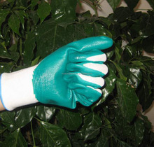 aqua blue nitrile gloves for oil industry use working gloves