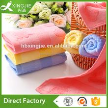 Jacquard Eco friendly Bamboo Fiber Plain Dyed Face Towel