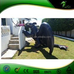 Hot Popular Inflatable Giant Black Dragon Model For Sea Activity