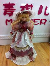 """16 """" adorável vestido feito à mão - up boneca de cerâmica"""