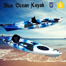 Blue Ocean summer style plastic kayak for two person/fishing plastic kayak for two person/ocean plastic kayak for two person
