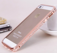 diamante case New Arrival Screwless Bling Crystal Diamond Bumper For Iphone 5, For iphone5s diamond bumpers case