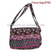 India printing pattern canvas cotton shopping bag