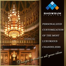 Professional customization crystal chandelier lighting factory