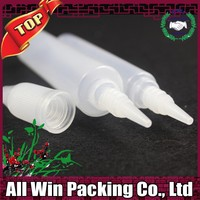 recycled promotion clear15ml PE pen bottle for e cigarette oil with white cap