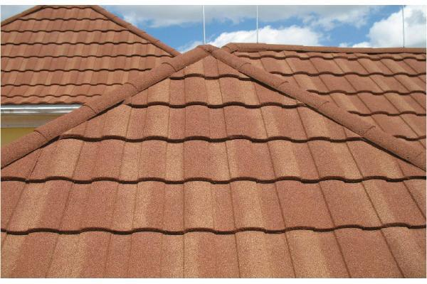 Stone chip coated steel roof tiles s type giant synthetic for Polymer roofing
