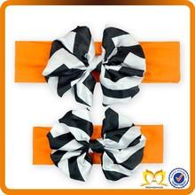 Orange and Black flower headbands wholesale design korean accessories