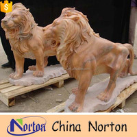 China manufacture garden marble lion statue NTBM-L073S