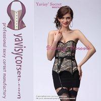 factory price hot sale brown corset waist cincher belt body shaper girdle