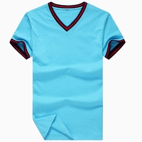 Wholesale Blank Men's Cheap Plain V-Neck T Shirts Made in China