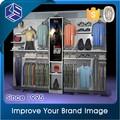 Maßgeschneiderte glänzende kleider rack edelstahl boden-display/Einzelhandels regal