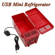 Mini USB-Powered Fridge Cooler for Beverage Drink Cans in Cubicle