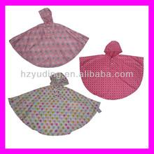 Good quality 100% polyurethane rain poncho for kids factory directly