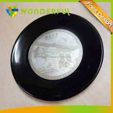 Promotion Cheap Metal Crafts Embossed Tin Plate Fashional Decorative Medal Tray