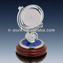 Global Clock Crystal Paperweight