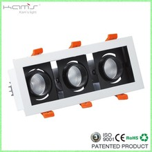 15/30 beam angle led 24W downlight 235*80mm 3 inch downlight with driver SAA TUV approved