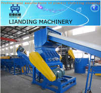 Superior quality pp pe crusher washing dry recycling machine