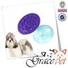 pet grooming brush / pet silicone brush / pet bathing brush