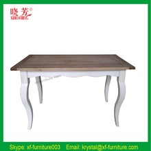 Vintage French Style High Quality Natural Wooden Dining Table (RF1002)