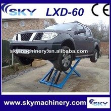 China Supplier LDX-60 auto scissor lift/car lift/manual hydraulic lifter