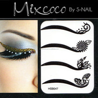 fashionable fake eyelash eyeliner tattoo