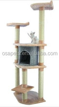 durable cat scratcher cat tree with cando and top bed